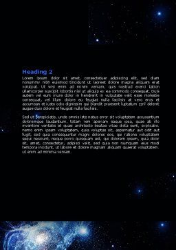 Violet Nebula Word Template Second Inner Page