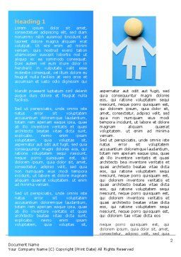 Women Organization Word Template First Inner Page