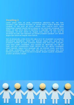 Women Organization Word Template, Second Inner Page, 07107, Medical — PoweredTemplate.com