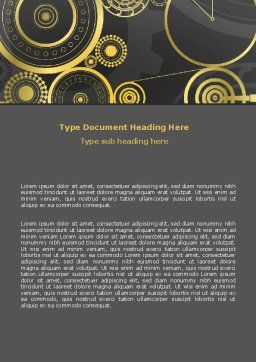 Ticking Mechanisms Word Template, Cover Page, 07108, Consulting — PoweredTemplate.com
