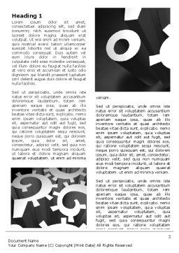 Mechanical Question Marks Word Template, First Inner Page, 07112, Consulting — PoweredTemplate.com