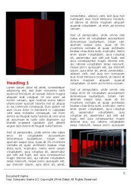 3D Effect Word Template, First Inner Page, 07115, Construction — PoweredTemplate.com