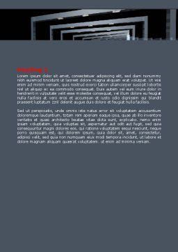 3D Effect Word Template, Second Inner Page, 07115, Construction — PoweredTemplate.com