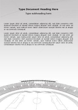 Football Stadium In Light Gray Colors Word Template, Cover Page, 07118, Construction — PoweredTemplate.com