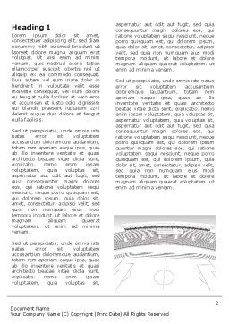 Football Stadium In Light Gray Colors Word Template, First Inner Page, 07118, Construction — PoweredTemplate.com