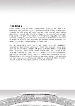 Football Stadium In Light Gray Colors Word Template, Second Inner Page, 07118, Construction — PoweredTemplate.com