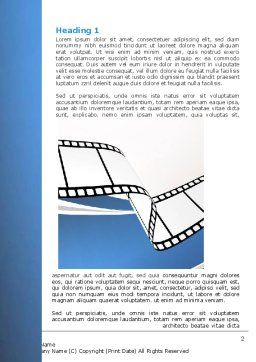 Movie Tape Word Template First Inner Page