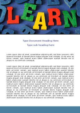 Learn Word Template, Cover Page, 07122, Education & Training — PoweredTemplate.com