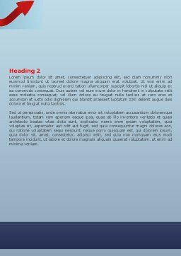 Arrow Knot Word Template, Second Inner Page, 07126, Consulting — PoweredTemplate.com