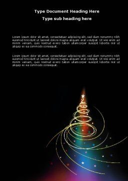 Christmas Tree Design Word Template, Cover Page, 07127, Holiday/Special Occasion — PoweredTemplate.com