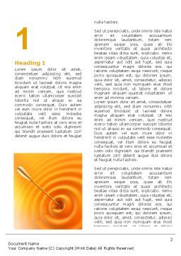 Reaching the Target Word Template, First Inner Page, 07129, Business Concepts — PoweredTemplate.com