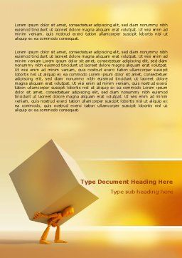 Heavy Burden Word Template, Cover Page, 07130, Consulting — PoweredTemplate.com