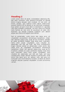 Connecting Point Word Template, Second Inner Page, 07132, Utilities/Industrial — PoweredTemplate.com