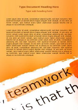 Teamwork Principles Word Template, Cover Page, 07133, Education & Training — PoweredTemplate.com