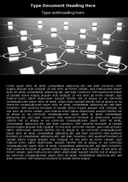 Computer Web Word Template, Cover Page, 07135, Technology, Science & Computers — PoweredTemplate.com