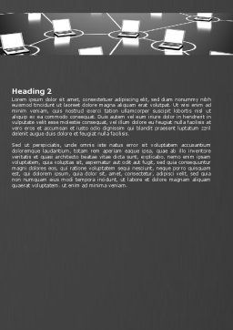 Computer Web Word Template, Second Inner Page, 07135, Technology, Science & Computers — PoweredTemplate.com