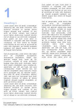 Water Tap Word Template, First Inner Page, 07138, Nature & Environment — PoweredTemplate.com