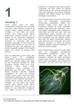 Microflora Word Template First Inner Page