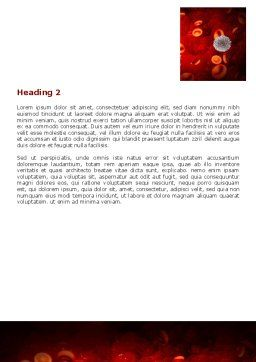 Virus Word Template, Second Inner Page, 07141, Medical — PoweredTemplate.com