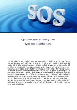 SOS Word Template, Cover Page, 07150, Consulting — PoweredTemplate.com