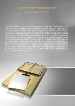 Mouse Trap Word Template, Cover Page, 07151, Consulting — PoweredTemplate.com
