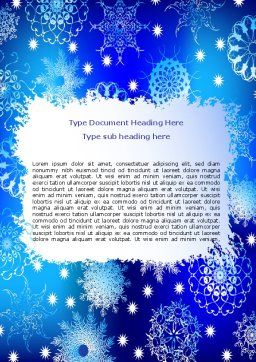Snowflake Frame Word Template, Cover Page, 07154, Holiday/Special Occasion — PoweredTemplate.com