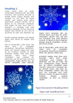 Snowflake Frame Word Template, First Inner Page, 07154, Holiday/Special Occasion — PoweredTemplate.com