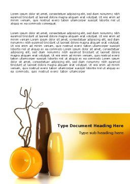 Vases Word Template, Cover Page, 07155, Careers/Industry — PoweredTemplate.com