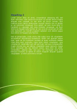 Green Man Word Template, Second Inner Page, 07156, Nature & Environment — PoweredTemplate.com