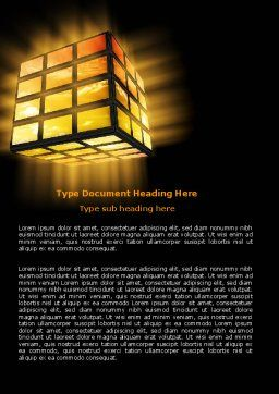 Light Cube Word Template, Cover Page, 07157, Business — PoweredTemplate.com