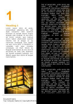 Light Cube Word Template, First Inner Page, 07157, Business — PoweredTemplate.com