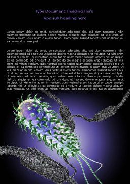 Bacteria Word Template, Cover Page, 07158, Medical — PoweredTemplate.com