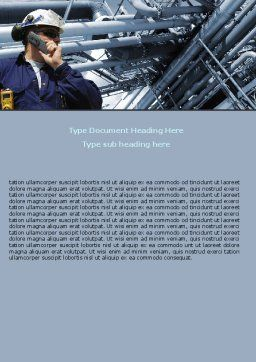 Engineering Industry Word Template, Cover Page, 07159, Utilities/Industrial — PoweredTemplate.com