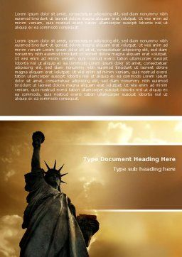 Liberty Statue Word Template Cover Page