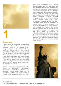 Liberty Statue Word Template First Inner Page