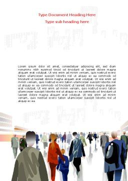 Crowded Place Word Template, Cover Page, 07162, Business — PoweredTemplate.com