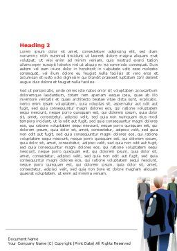 Crowded Place Word Template, Second Inner Page, 07162, Business — PoweredTemplate.com