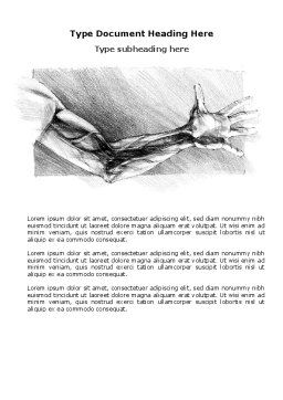 Hand Sketch Word Template Cover Page