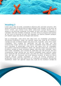 X-Chromosome Word Template, Second Inner Page, 07173, Medical — PoweredTemplate.com