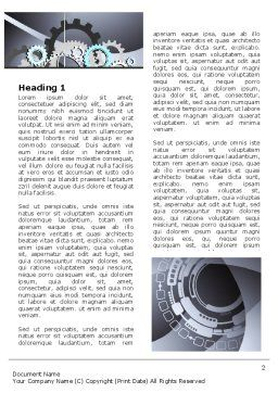 Gray Gears Word Template, First Inner Page, 07175, Technology, Science & Computers — PoweredTemplate.com