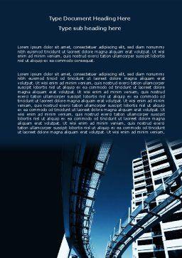 Urban Transport Racks Word Template, Cover Page, 07177, Construction — PoweredTemplate.com