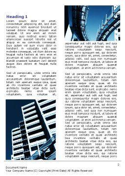 Urban Transport Racks Word Template, First Inner Page, 07177, Construction — PoweredTemplate.com