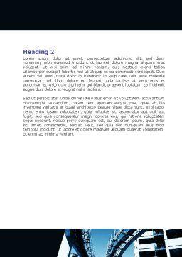 Urban Transport Racks Word Template, Second Inner Page, 07177, Construction — PoweredTemplate.com