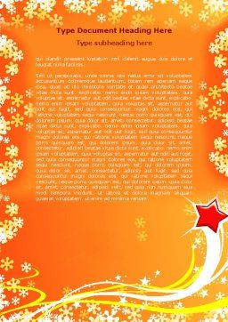 Shiny Theme Word Template, Cover Page, 07183, Holiday/Special Occasion — PoweredTemplate.com