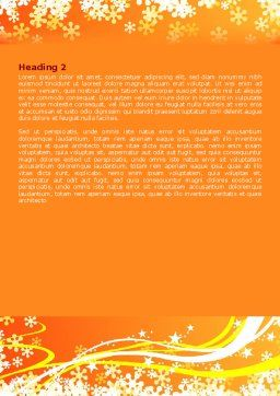 Shiny Theme Word Template, Second Inner Page, 07183, Holiday/Special Occasion — PoweredTemplate.com