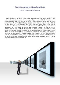 Art Design Gallery Word Template Cover Page