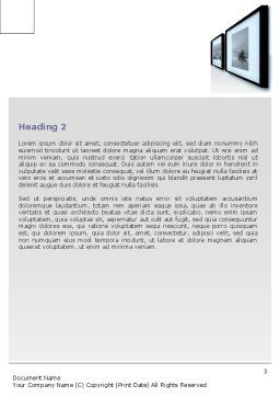 Art Design Gallery Word Template Second Inner Page