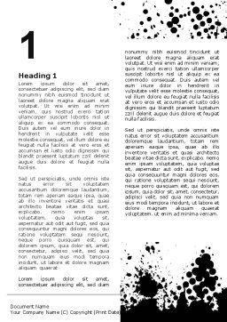 Black Splash Word Template First Inner Page 07188 Abstract Textures PoweredTemplate