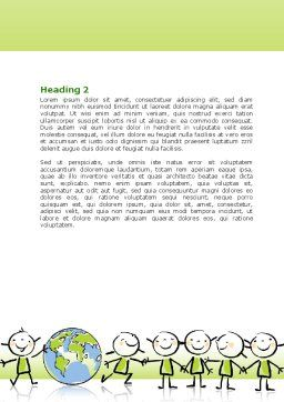 Kiddy Theme Word Template, Second Inner Page, 07189, Education & Training — PoweredTemplate.com