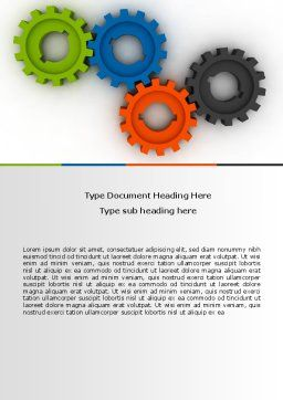 Colorful Gears Word Template, Cover Page, 07191, Consulting — PoweredTemplate.com